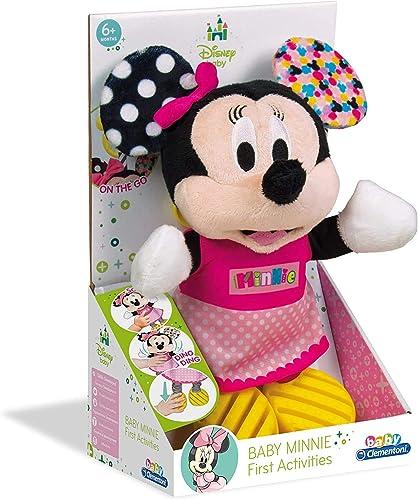 Clementoni Disney Baby 17164 Baby Minnie First Activities, Peluche Baby Minnie