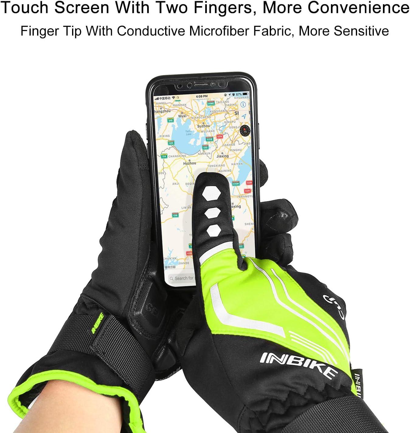 969R AislamientoT/érmico y Forro Polar INBIKE Guantes Ciclismo Hombre para Invierno Guantes De Pantalla T/áctil para Bicicleta Carretera MTB con Membrana Impermeable