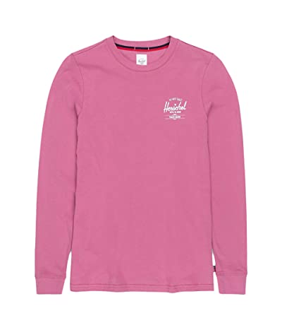 Herschel Supply Co. Long Sleeve Tee (Classic Logo Heather Rose/White) Women