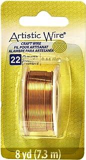 Beadalon Artistic, 22 Gauge, Natural Non-Tarnish, 8 yd (7.3 m) Craft wire, NT Brass