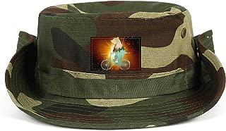 hreaarc Bear priestUnisex Boonie Hat Summer UV Foldable Wide Brim Boonie Hats for Beach Safari Fishing Hiking Beach Golf