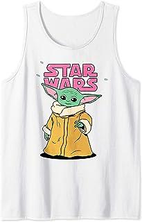 Star Wars The Mandalorian The Child Pink Bubble Letters Débardeur