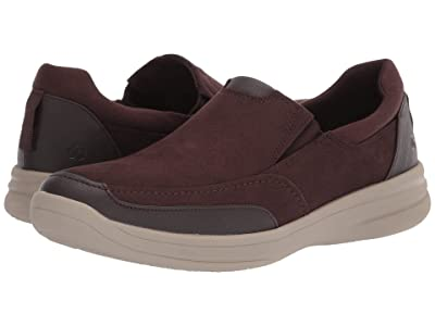 Clarks Step Stroll Edge (Brown Leather) Men
