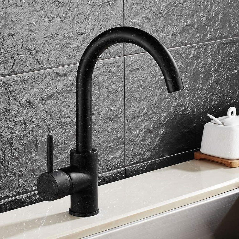redOOY Faucet Taps Kitchen Faucet Black Quartz Stone Kitchen Faucet redatable Sink Sink Elbow Faucet