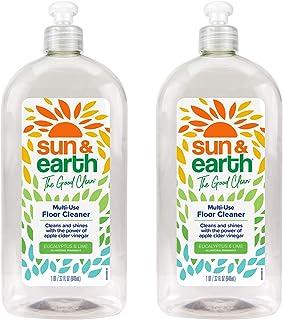 Sponsored Ad - Sun & Earth Floor Cleaner Liquid - Hardwood, Wood, Laminate, Vinyl, Tile or Upholstery - For Mopping or Spo...