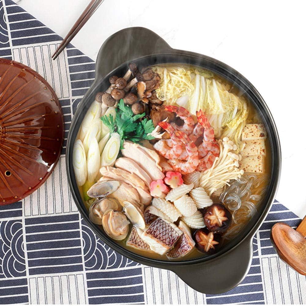 LIUSHI Pots en céramique de Cuisson de Casserole d'argile - Pot de ragoût de Casserole de Style Japonais Petit Pot de Soupe Domestique-3.0L 3.0l