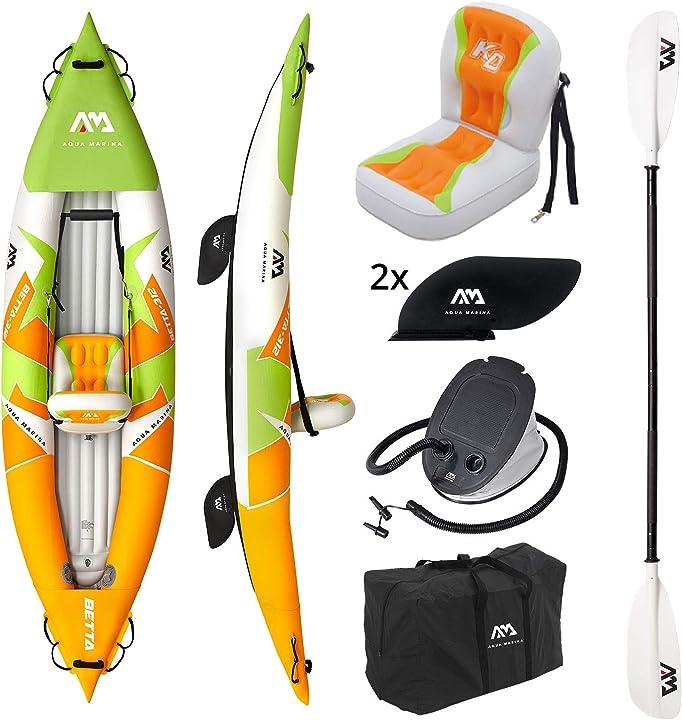 """Kayak gonfiabile in set betta-312 2020 10`3"""" gommone canoa per 1 persona con pagaia am aqua marina BE-312"""
