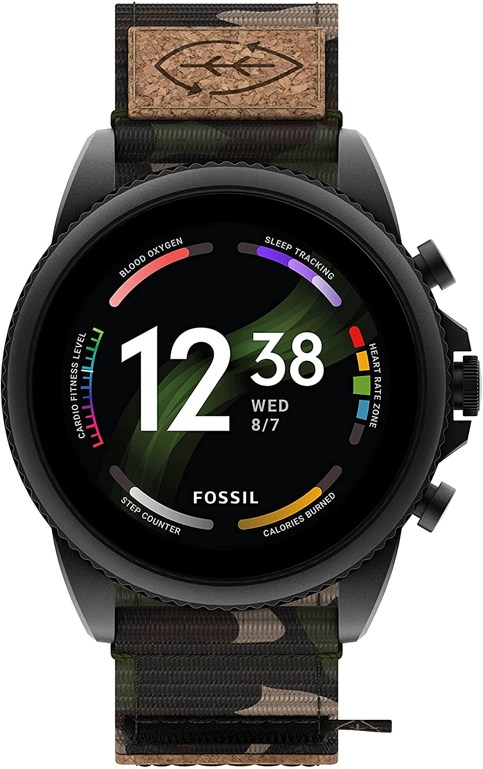 Fossil Men's Gen 6 Touchscreen Smartwatch with Speaker, Heart Rate, Blood Oxygen, GPS, Contactless Payments and Smartphone Notifications