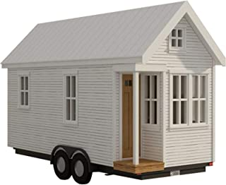 170 sq ft Tiny house - with loft on wheels plans DIY Fun to build!! Build your own