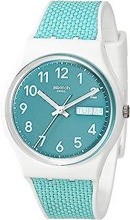 Essentials Swiss Quartz bimaterial Strap, White, 16 Casual Watch (Model: GW714)