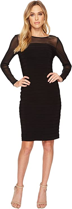 Adrianna Papell - Matte Jersey Pintucked Dress