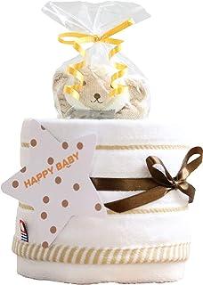 今治タオル imabari towel 出産祝い 日本製 オーガニック 1段 おむつケーキ シフィール パンパース テープタイプ S 女の子 男の子 男女兼用