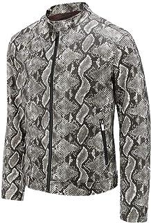 NOBRAND New PU Leather Jacket Snake Skin Men's Leather Jacket