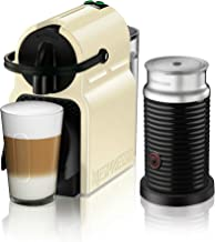 Nespresso by De'Longhi Nespresso Inissia Original Espresso Machine Bundle with Aeroccino Milk Frother by De'Longhi, Creamy White