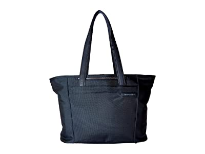 Briggs & Riley Baseline Large Shopping Tote Bag (Navy Blue) Tote Handbags