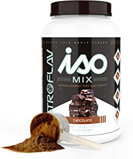 AstroFlav IsoMix Premium Whey Protein Isolate Powder, Advanced Protein with BCAAs and EAAs for Muscle Building, 25g Instan...
