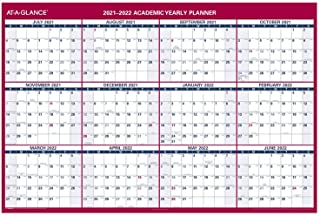 "$29 » 2021-2022 Erasable Calendar, Dry Erase Wall Planner by AT-A-GLANCE, 48"" x 32"", XLarge, Academic & Regular Year, Double Sid..."