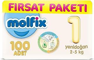 Molfix 3D Bebek Bezi Yenidoğan, Fırsat Paketi 100 Adet