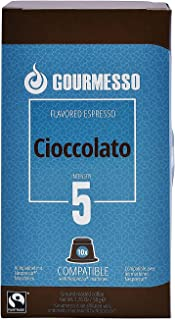 Decaf Chocolate Aroma Espresso by Gourmesso - Nespresso Compatible Capsules , Fresh & Authentic , Rich Taste , Fully Flavo...