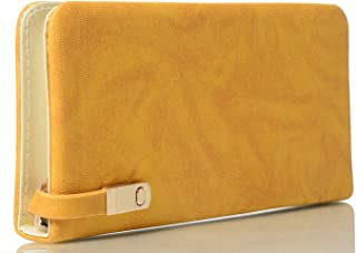 AWESOME FASHIONS Women's Clutch (AF102_Yellow)