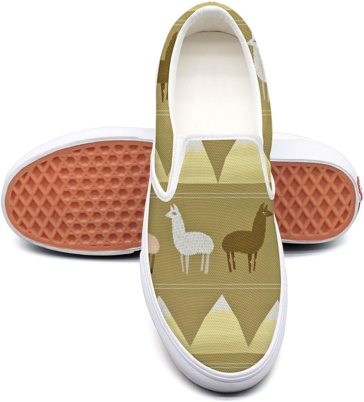 Desert Llamas Womens Denim Canvas Running shoes Low Top Lightweight Basketball Sneakers For Women's