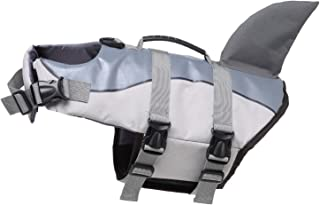 MaruPet Ripstop Dog Life Jacket, Shark Life Vest/Mermaid for Dogs, Size Adjustable Lifesaver Safety Jacket,Pet Swimsuit Floatation Life Vest Preserver Coat