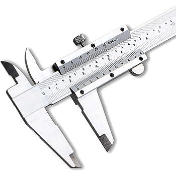 Spurtar Edelstahl Messschieber, Präzisionsmessschieber mit Feststellschraube für Haushalt und Industrie Messung - 150mm
