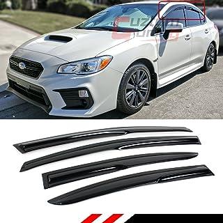 Armertek STI Carbon Fiber-Look License Plate Frame Cover Stainless Steel Black for Subaru 1