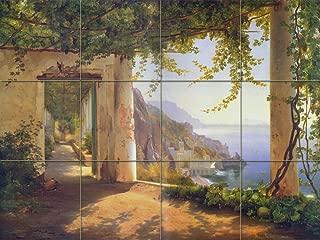 FlekmanArt Amalfi Coast by Agaarad - Tumbled Marble Mural 24