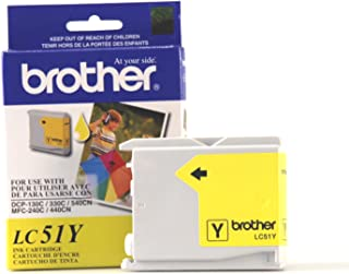 Brother Innobella LC51Y Ink Cartridge, 400 Page Yield, Yellow