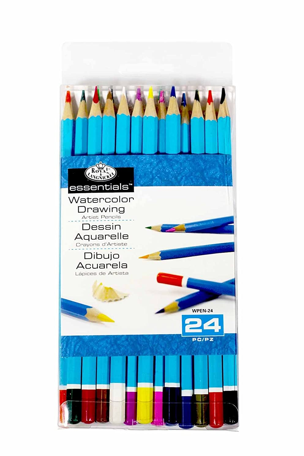 Royal & Langnickel Watercolor Pencil Set, 24-Piece