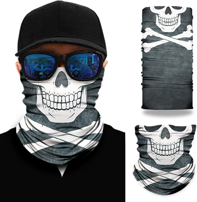 Ozaeo Sports Bandana Neck Gaiter Face Mask Sweat-absorbent Headband for Hiking Running Motorcycling