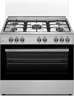 Veneto 90 X 60 cm 5 Gas Burners, Free standing Electric oven Cooker, Stainless Steel - P3X96E5VC.VN