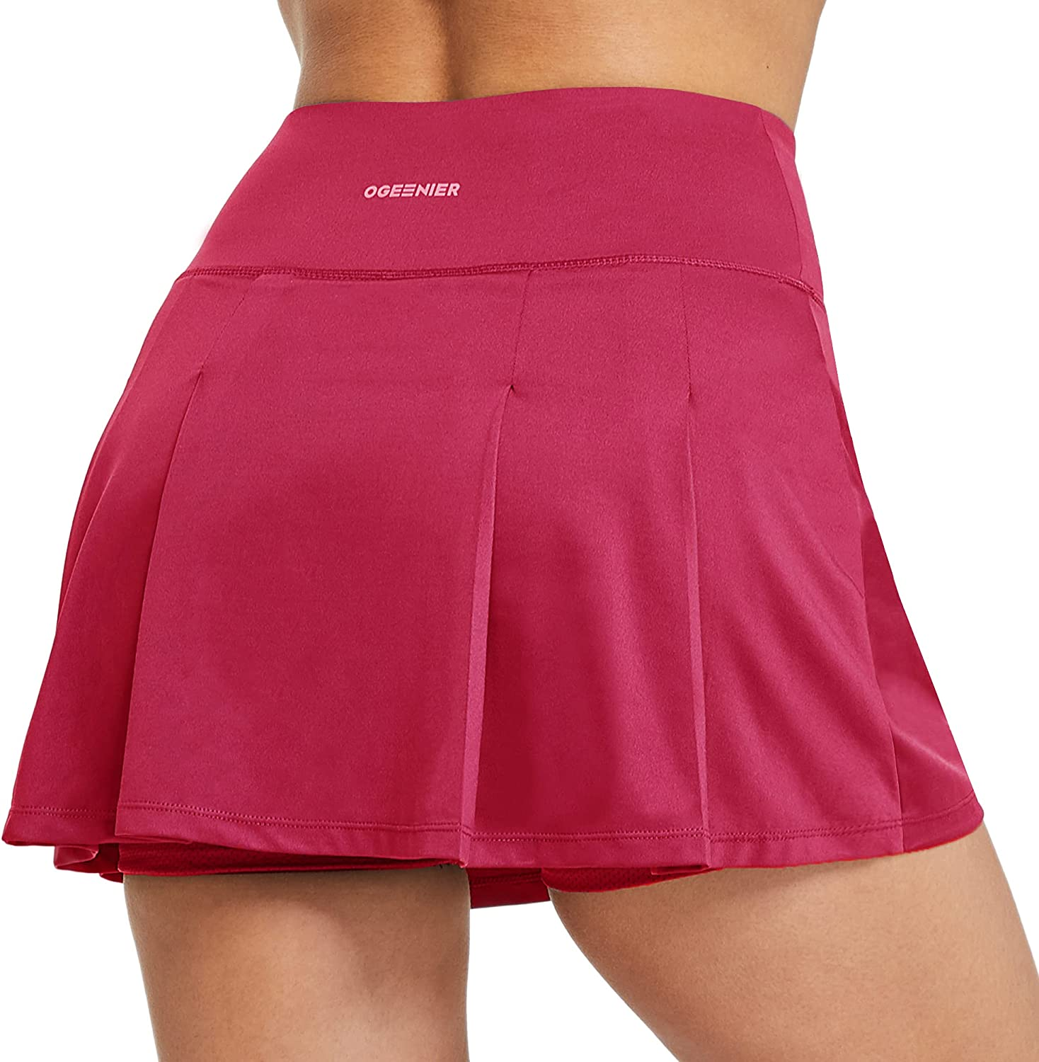 OGEENIER Max 53% OFF Women's Tennis Gorgeous Skirts with Mini Shorts Athletic Pleated