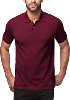 LAPASA Polo Shirt for Men, Piqué Knitted Fabric (no Jersey). Longer Back-Hem, Short Sleeve M19