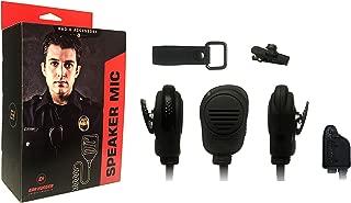 Speaker Microphone for Harris XG-75P XG-25P P5400 P5100 P7300, EH-SM-1018 Lapel Earhugger Shoulder Mic, Police Surveillance, Includes Earhugger Lapel Strap
