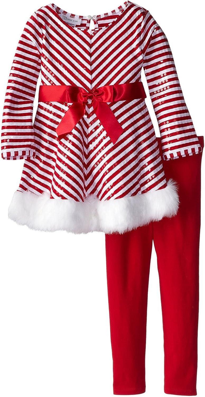 Bonnie Jean Little Girls' Holiday Pant White Chevron - Red Set S Save San Jose Mall money