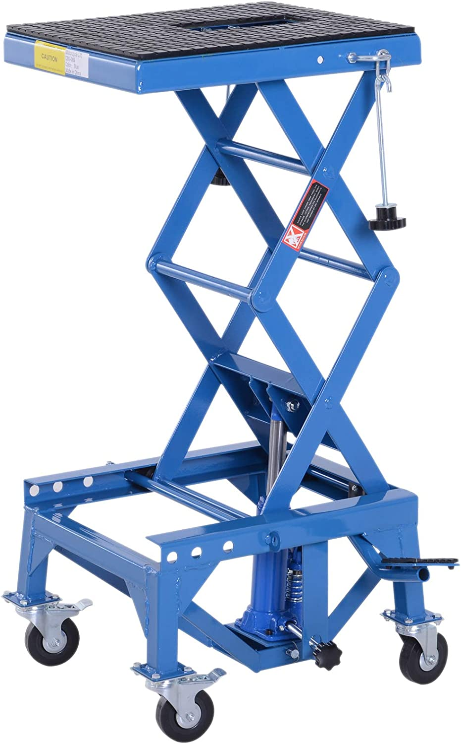 DURHAND 300 lbs Hydraulic Motorcycle Lift Foot Sales Branded goods of SALE items from new works Step Scissor Jack