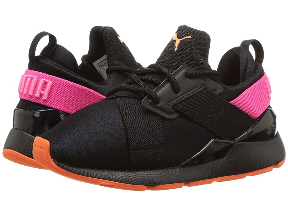 Puma Kids Muse Chase PS (Little Kid) (Puma Black/Knockout Pink) Girls Shoes