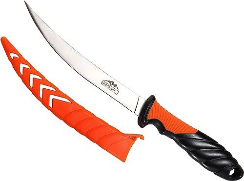 Huntsman Fish Fillet Knife - Sharp 6 inch Stainless Steel Blade - Protective Sheath - Slip Resistant Grip
