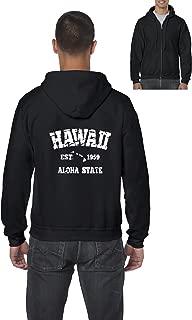 Hawaii Hoodie Hawaiian Islands 1959 Places To Travel In Aloha State Hi Honolulu Kauai Maui OAHU Mens Hoodies Zip Up Sweater
