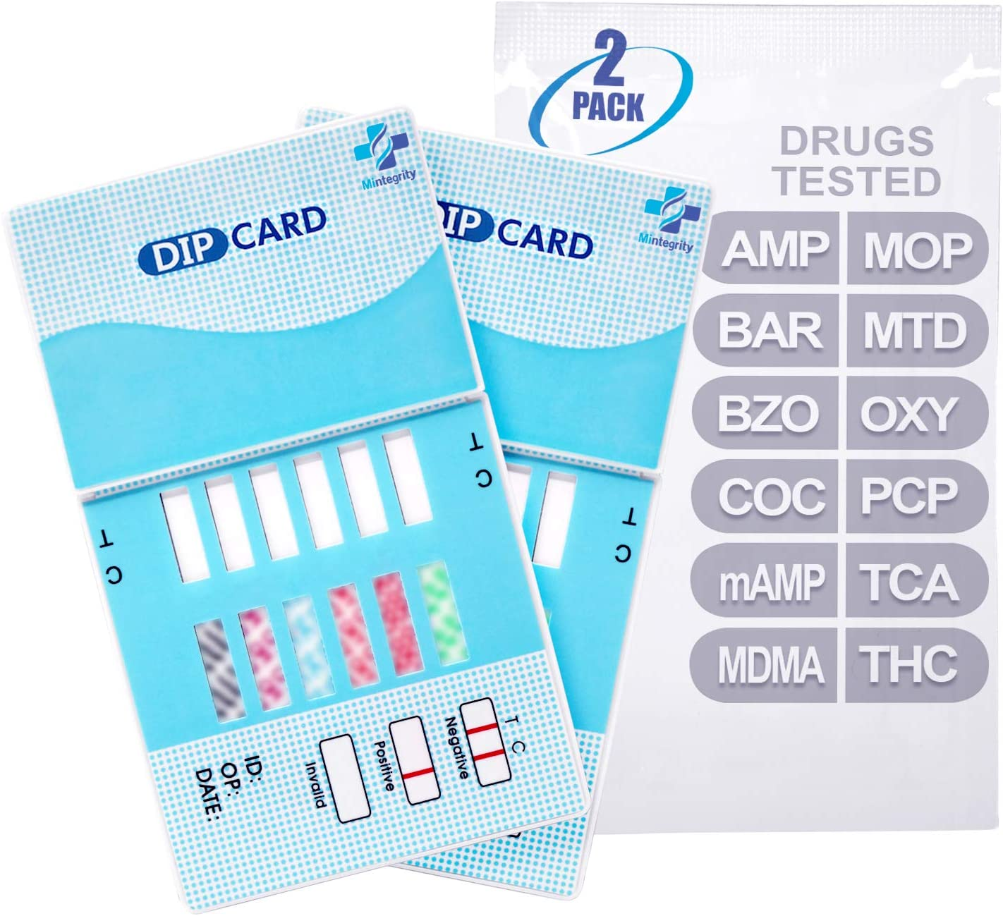 MiCare 2pk - 12-Panel Urine Drug Test mA BZO BAR New Shipping Free Shipping AMP latest COC Card
