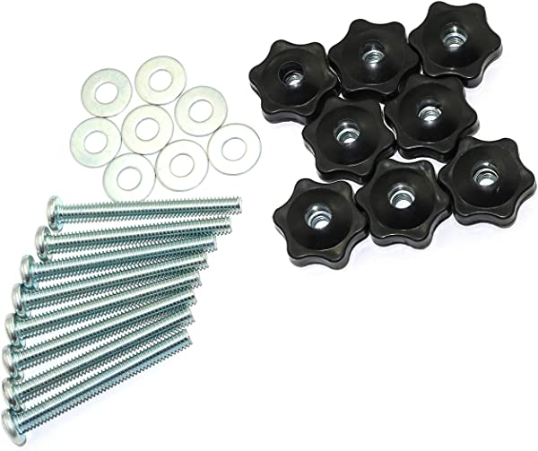 RuiLing 8 Set T Track Knobs Kit Hex Head Manual Nut With Full Thread Outer Bolts And Washers