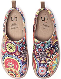 Blossom Women's Fashion Floral Art Sneaker Painted Canvas Slip-On Ladies Travel Shoes