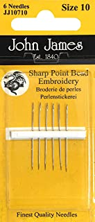 Colonial Needle 6 Count John James Bead Embroidery Short Length Needles, Size 10