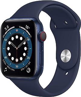 New Apple Watch Series 6 (GPS + Cellular, 44mm) - Blue Aluminium Case with Deep Navy Sport Band
