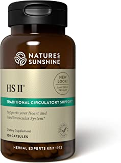 Nature's Sunshine HS II, 100 Capsules, Contains Garlic Bulb, Capsicum Fruit, and Hawthorn Berries to Offer Support to The ...