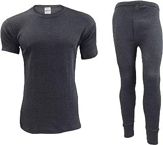 CLOUSPO Men/'s Thermal Underwear Thermal Men Long Sleeve Round Neck Top Warm Lightweight Soft Comfortable Underwear Base Layer
