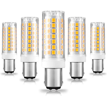Ziomitus BA15D Led Bulbs 120V Dimmable 6W,Double Contact DC Bayonet Base,2700K Soft Warm White,40W 50W 60W T3/T4 Halogen Equivalent,Dimmable BA15D LED for Sewing Machine Pendants Ceil Wall Light,5Pack