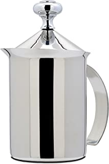 Bellemain Stainless Steel Hand Pump Milk Frother, 14 oz. capacity
